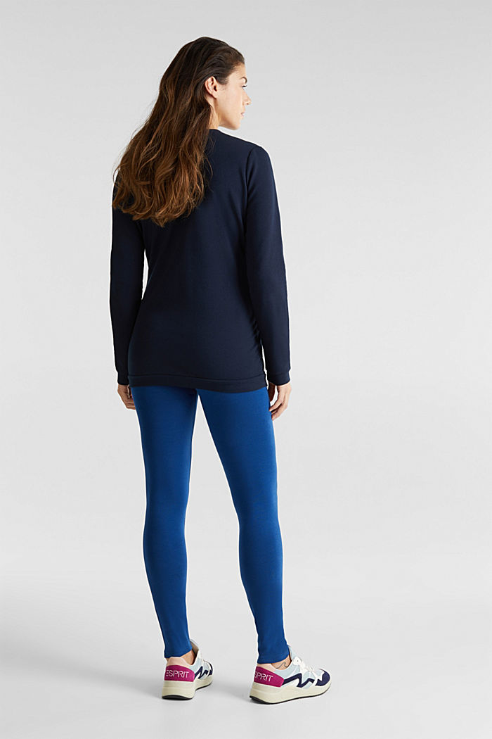 Leggings with an under-bump waistband, BRIGHT BLUE, detail image number 3