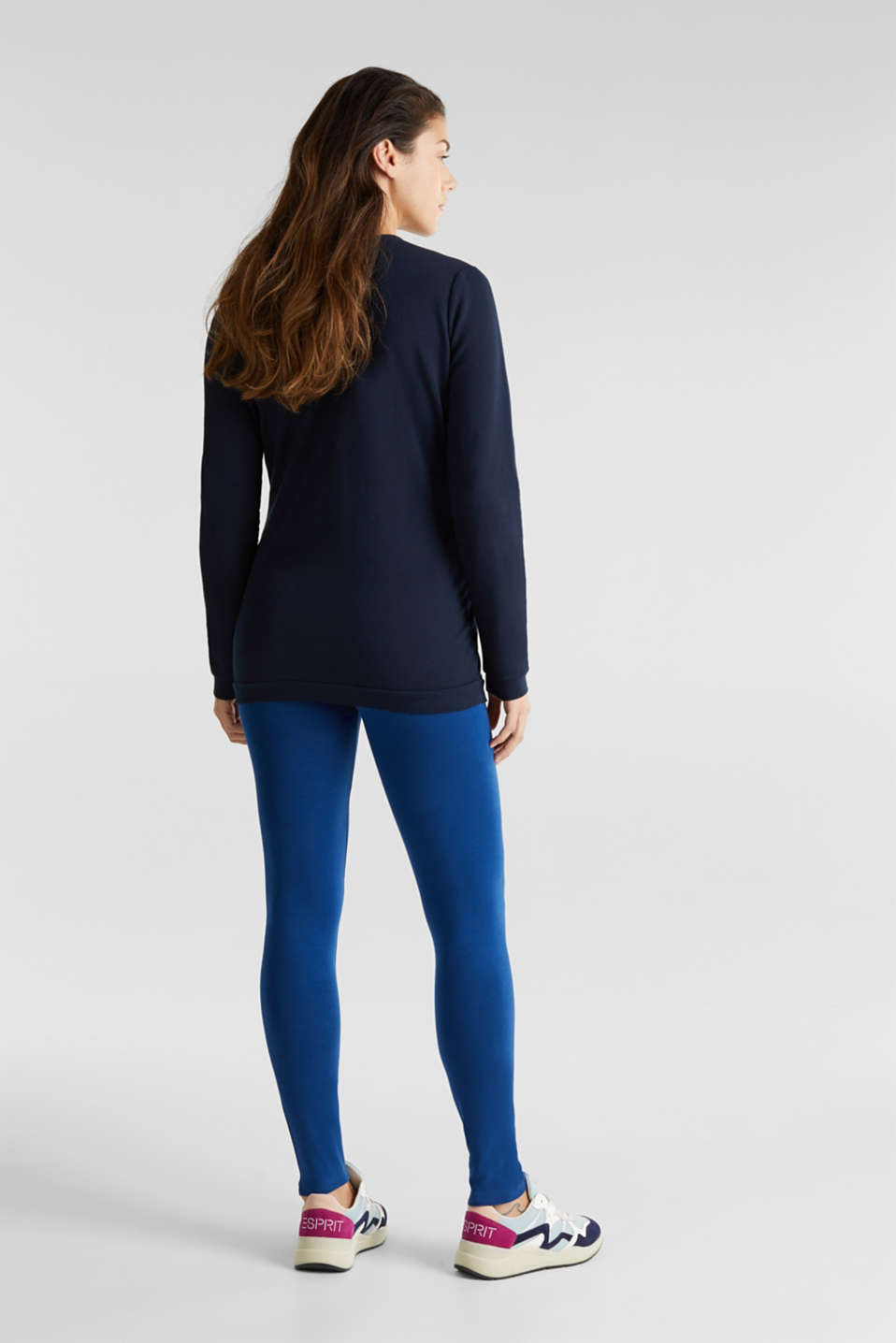 Leggings with an under-bump waistband, LCBRIGHT BLUE, detail image number 3