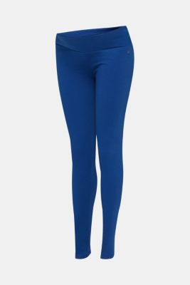 Leggings with an under-bump waistband, LCBRIGHT BLUE, detail