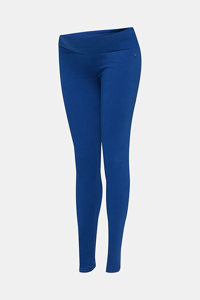 Leggings with an under-bump waistband, BRIGHT BLUE, detail image number 2