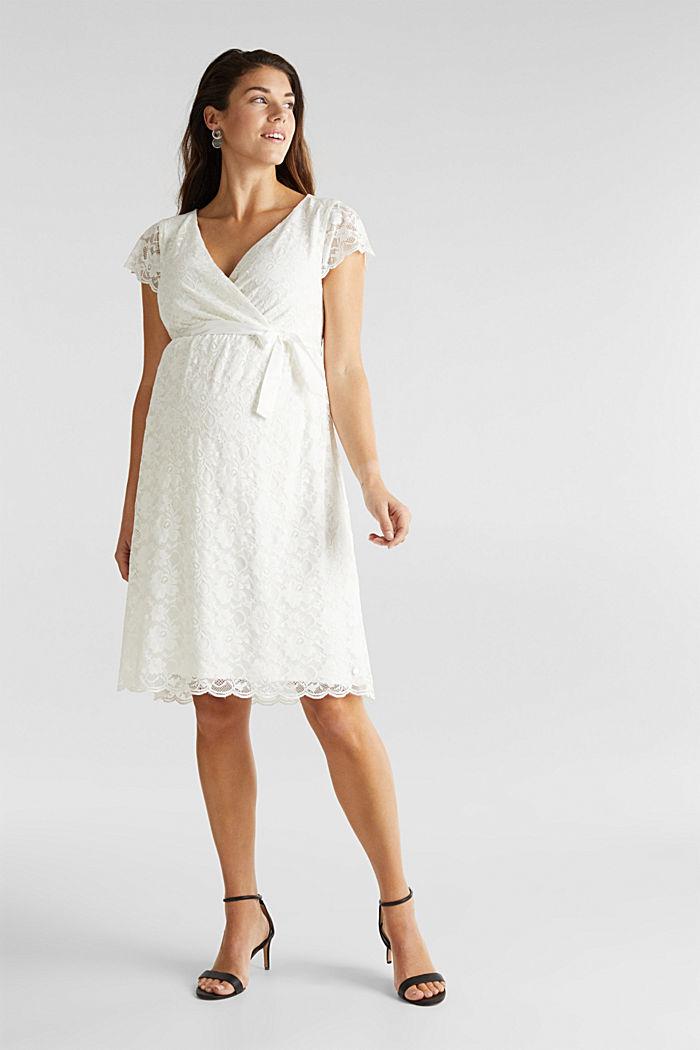 Vestido de novia con función de lactancia, OFF WHITE, detail image number 0
