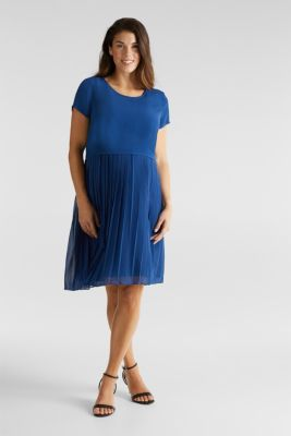 Pleated dress a nursing function, BRIGHT BLUE, detail