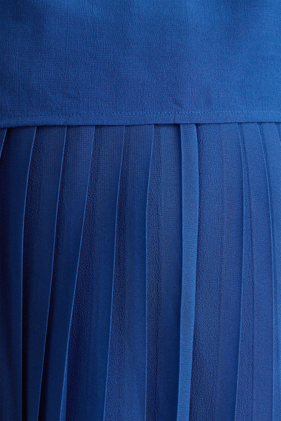 Dress featuring a pleated skirt and a nursing function, LCBRIGHT BLUE, detail image number 4