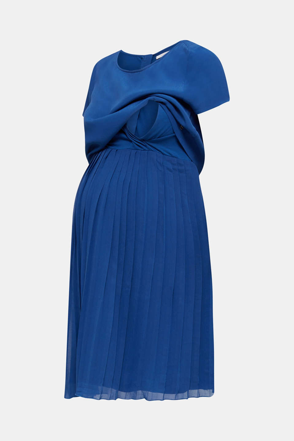 Dress featuring a pleated skirt and a nursing function, LCBRIGHT BLUE, detail image number 5