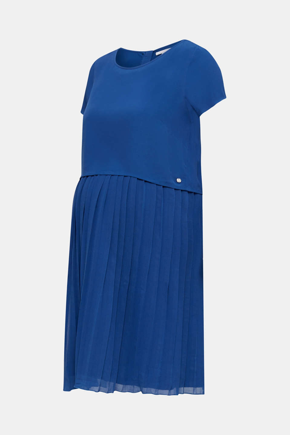 Dress featuring a pleated skirt and a nursing function, LCBRIGHT BLUE, detail image number 7