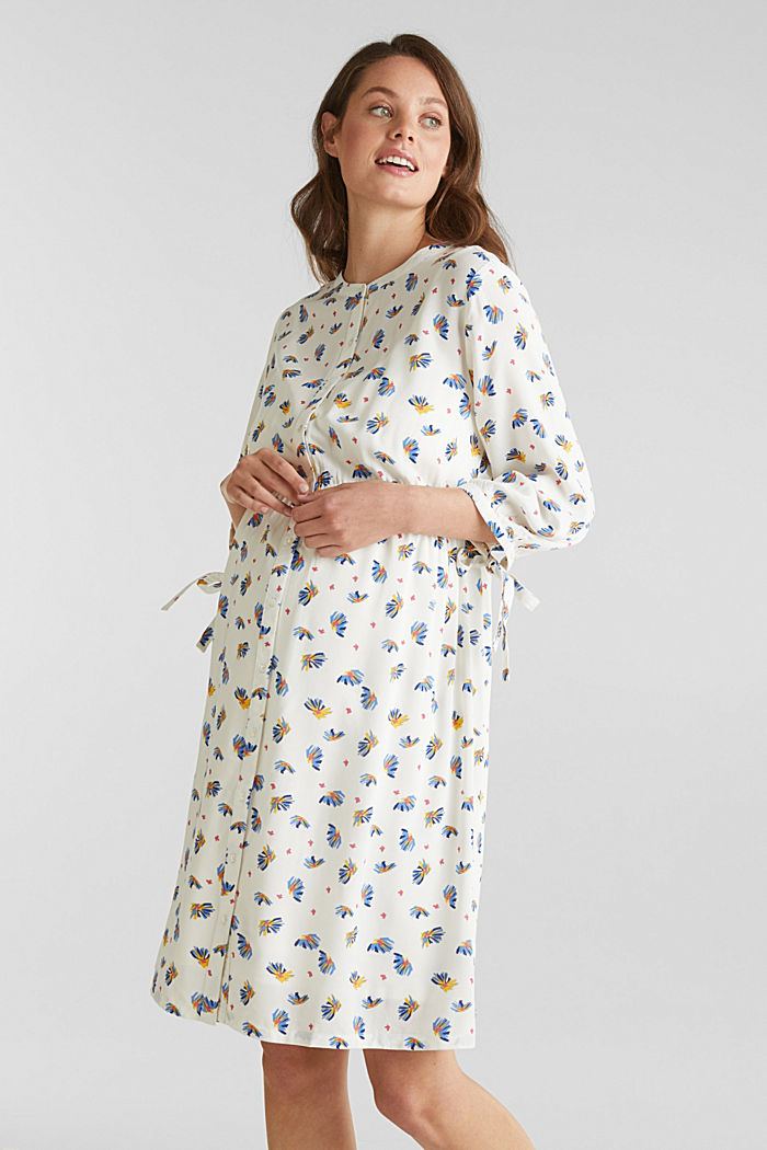 Dress with a print and nursing function