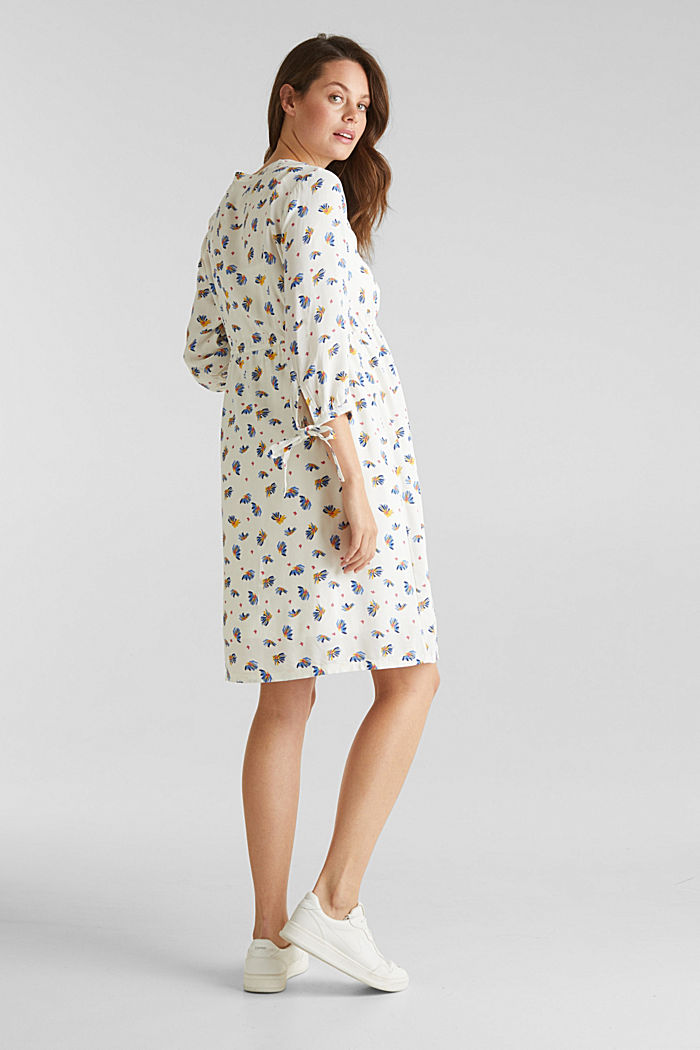 Dress with a print and nursing function, OFF WHITE, detail image number 3