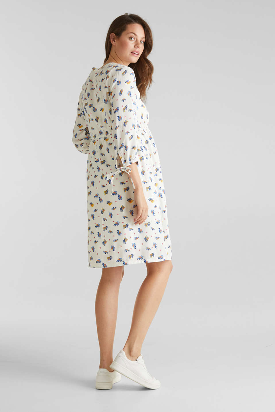 Dress with a print and nursing function, LCOFF WHITE, detail image number 3
