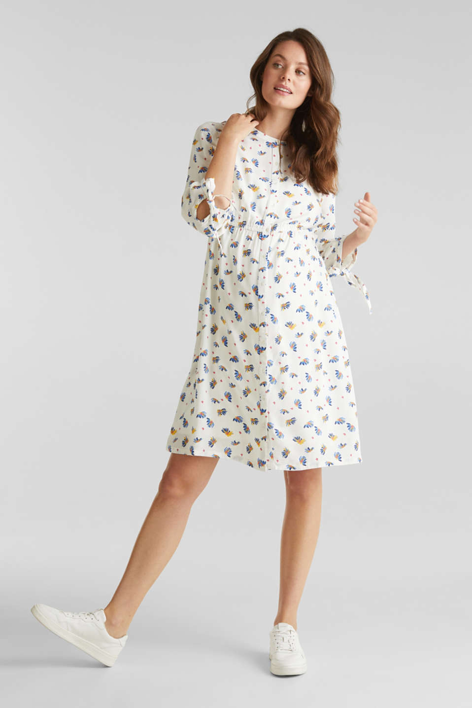 Dress with a print and nursing function, LCOFF WHITE, detail image number 1