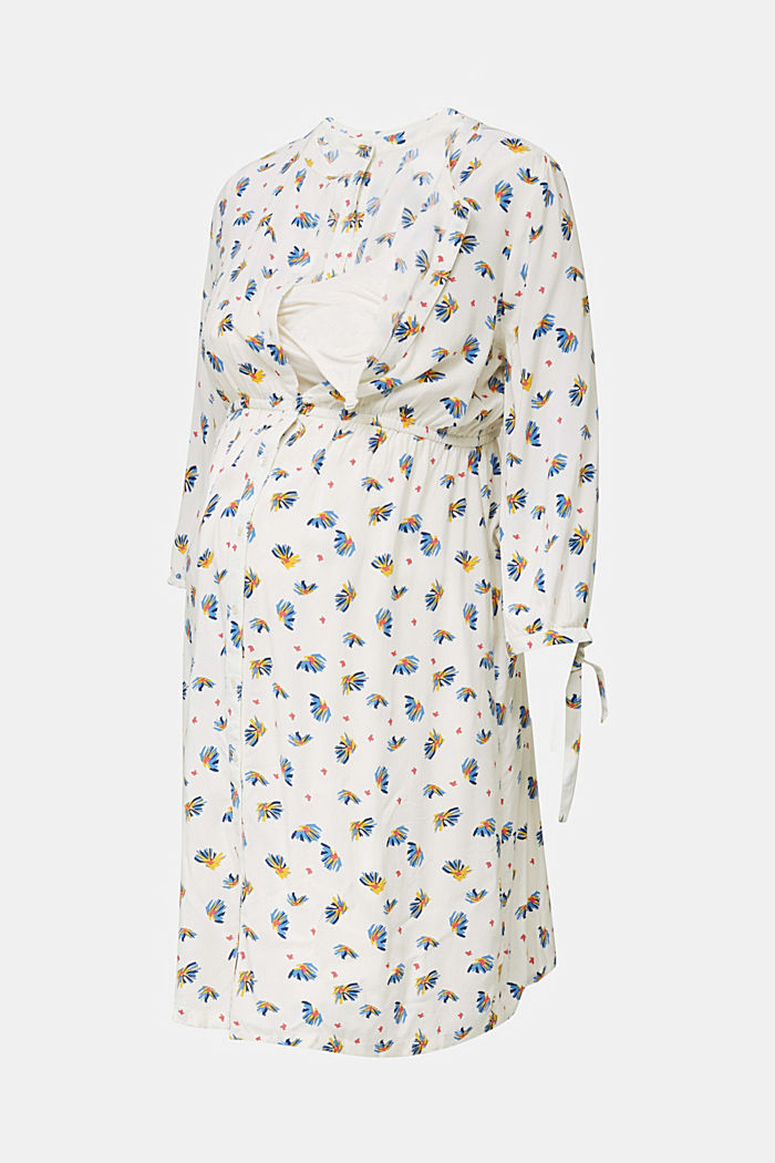 Dress with a print and nursing function, OFF WHITE, detail image number 5
