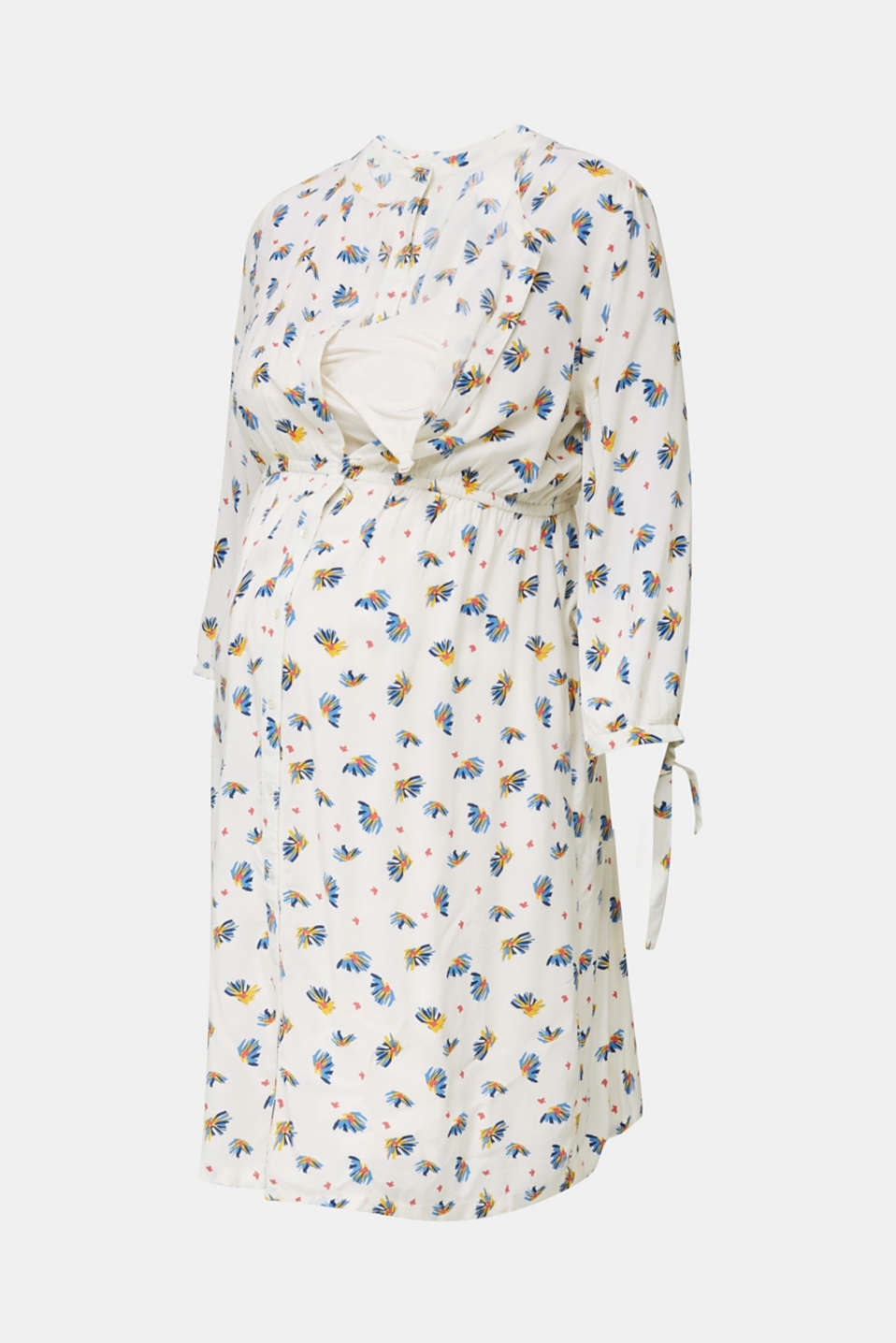 Dress with a print and nursing function, LCOFF WHITE, detail image number 5