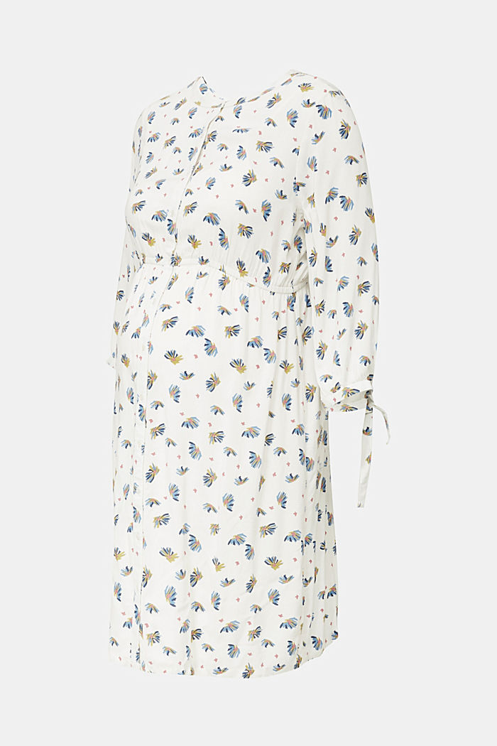Dress with a print and nursing function, OFF WHITE, detail image number 6