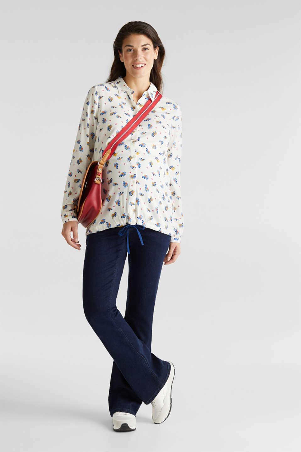 Nursing blouse with a drawstring hem, LCOFF WHITE, detail image number 1