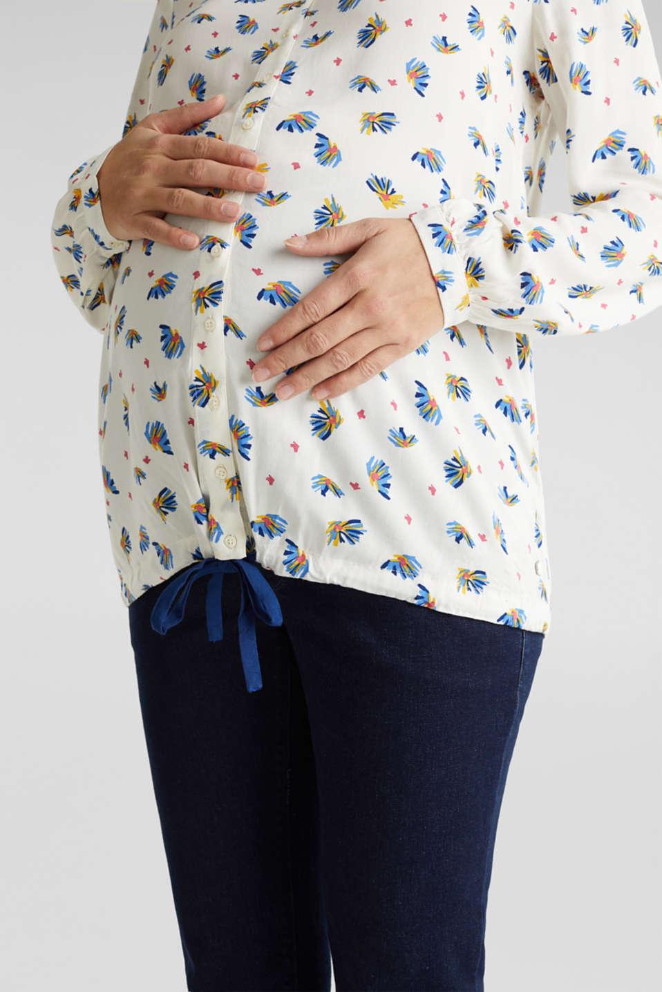 Nursing blouse with a drawstring hem, LCOFF WHITE, detail image number 2
