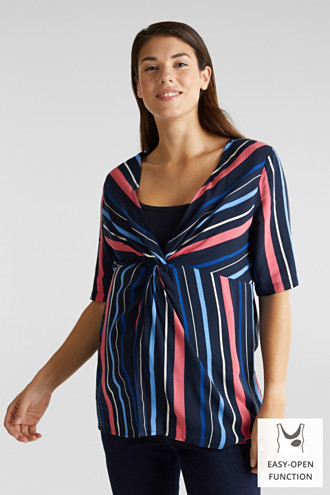 2-in-1: Striped blouse with a nursing top
