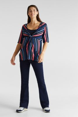 2-in-1: Striped blouse with a nursing top, LCNIGHT BLUE, detail