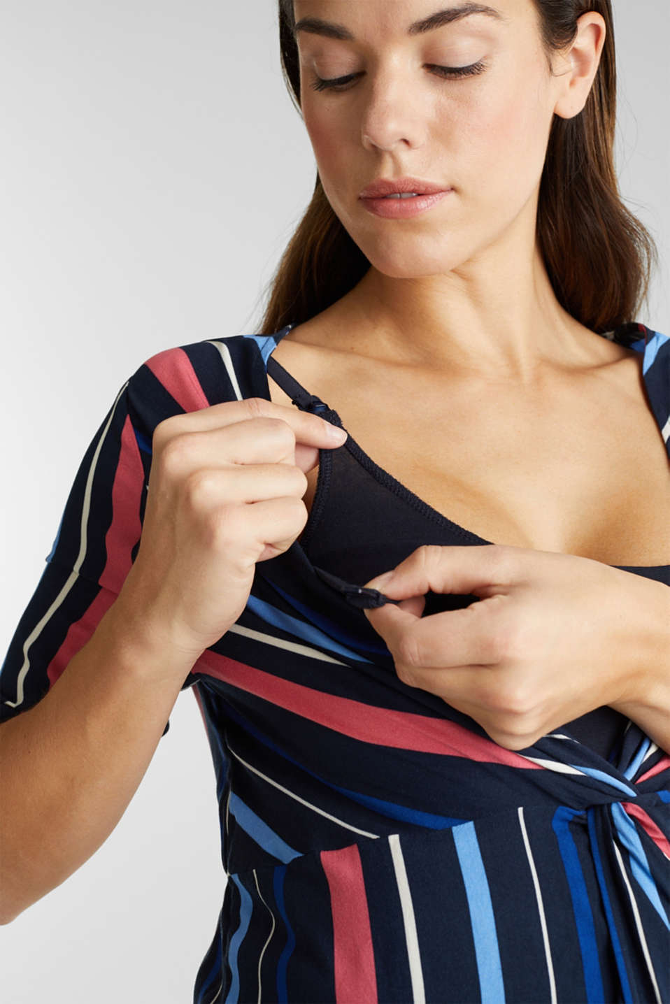 2-in-1: Striped blouse with a nursing top, LCNIGHT BLUE, detail image number 2