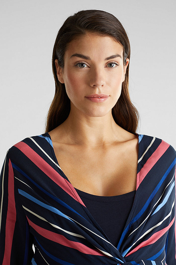 2-in-1: Striped blouse with a nursing top, NIGHT BLUE, detail image number 6