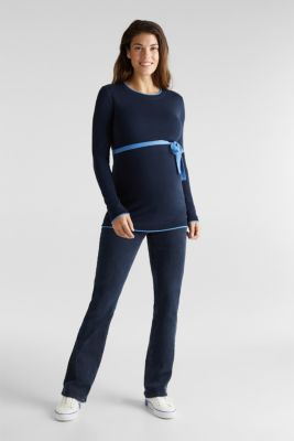 Jumper with contrasting details, NIGHT BLUE, detail