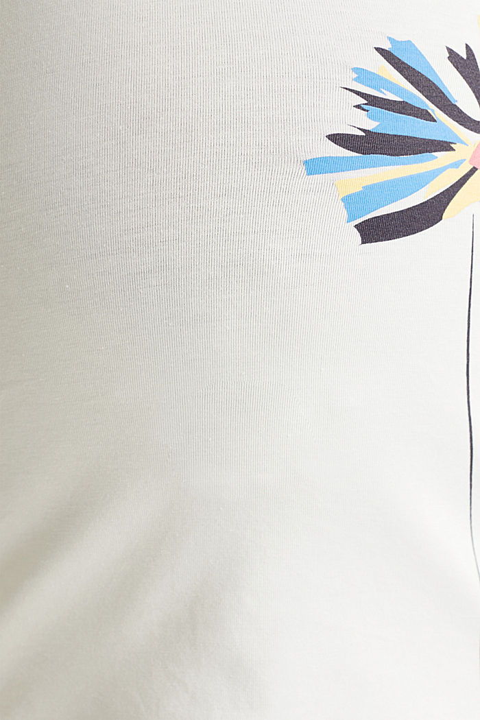 Stretch top with a positioned print, OFF WHITE, detail image number 3