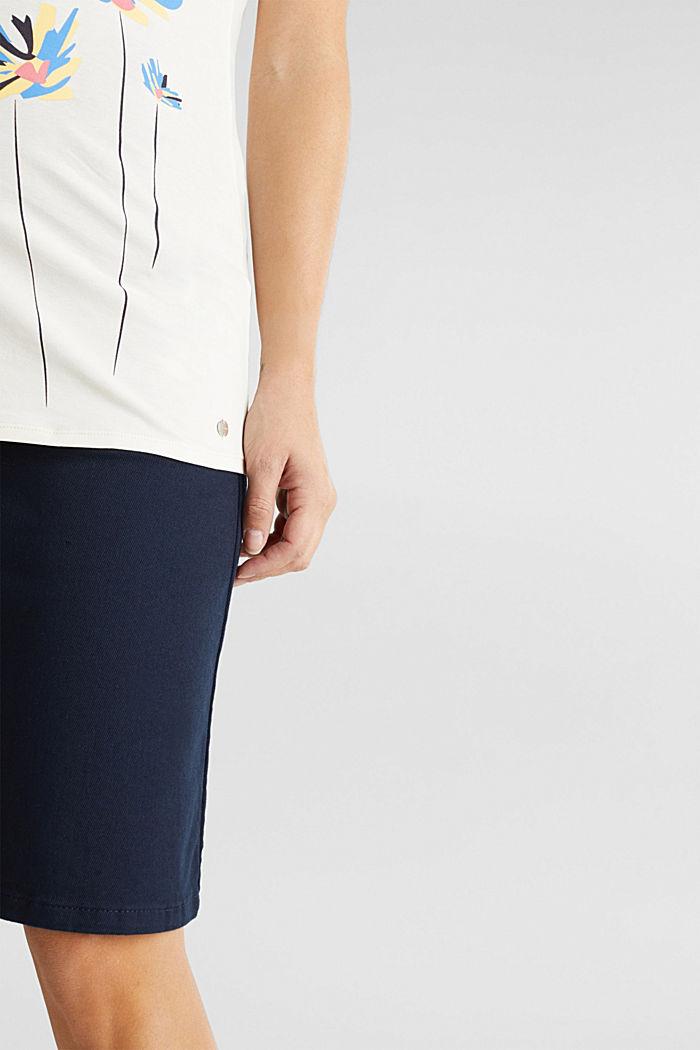 Stretch-Shirt mit platziertem Print, OFF WHITE, detail image number 4