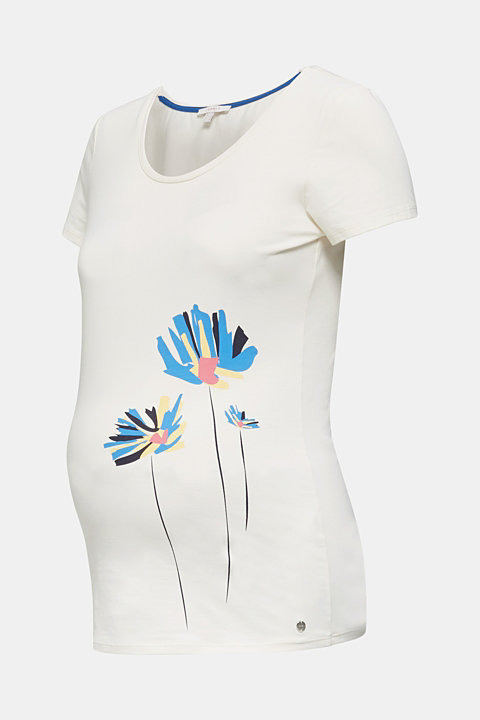 Stretch top with a positioned print
