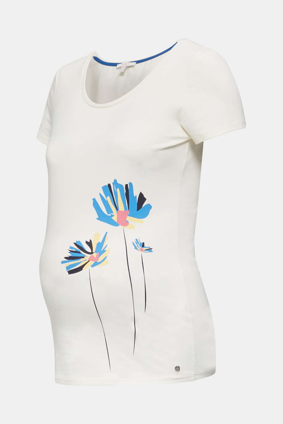 Stretch top with a positioned print, LCOFF WHITE, detail image number 6