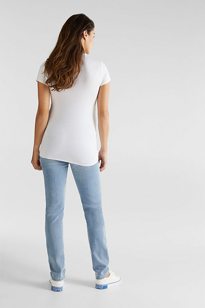 Bleached jeans with an over-bump waistband, BLUE LIGHT WASHED, detail image number 2