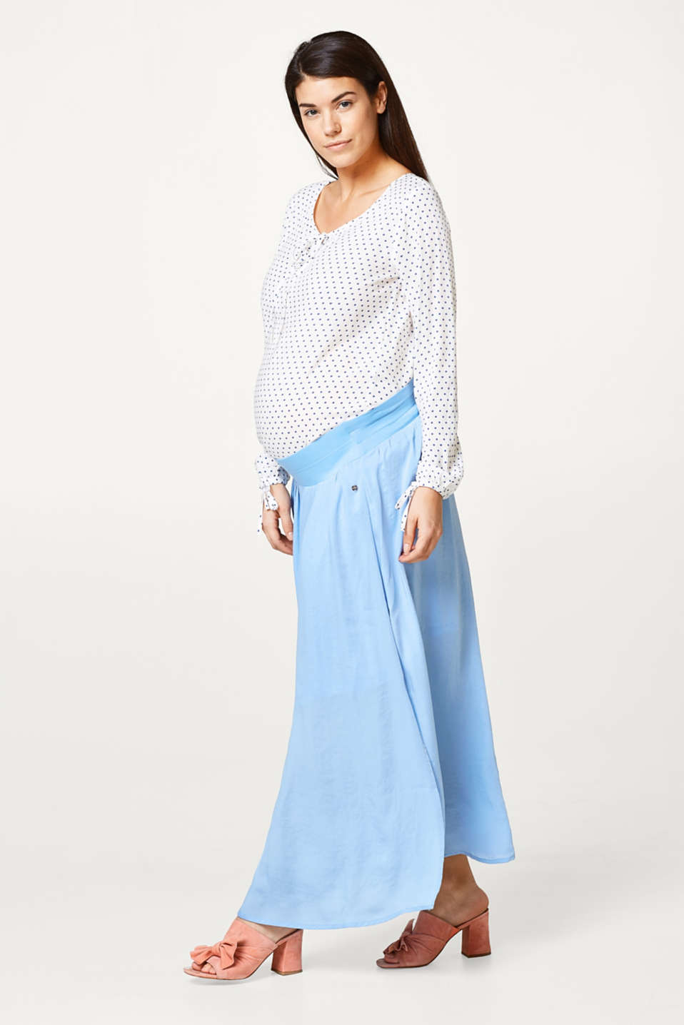 Esprit - Trendy maxi skirt, under-bump waistband