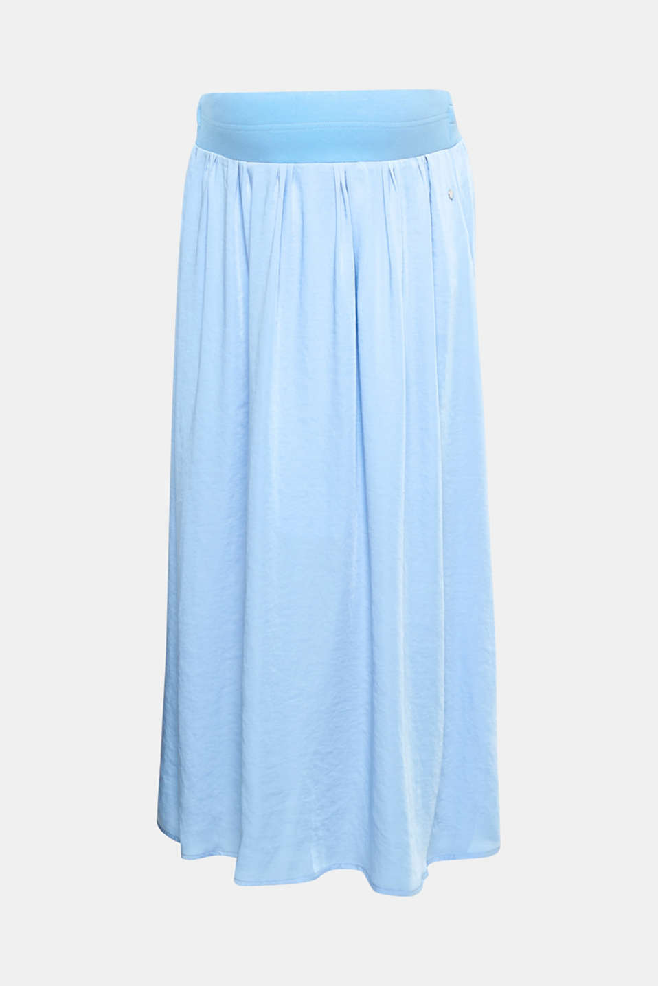 With its stylish maxi length and functional under-bump waistband, this maxi skirt is made for mothers-to-be.