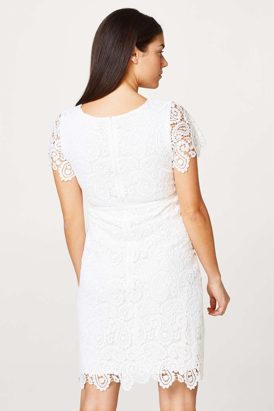 Occasionwear lace dress + belt, LCOFFWHITE, detail image number 3
