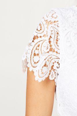 Occasionwear lace dress + belt, LCOFFWHITE, detail