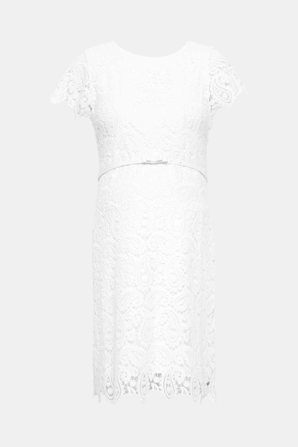Esprit - Occasionwear lace dress + belt