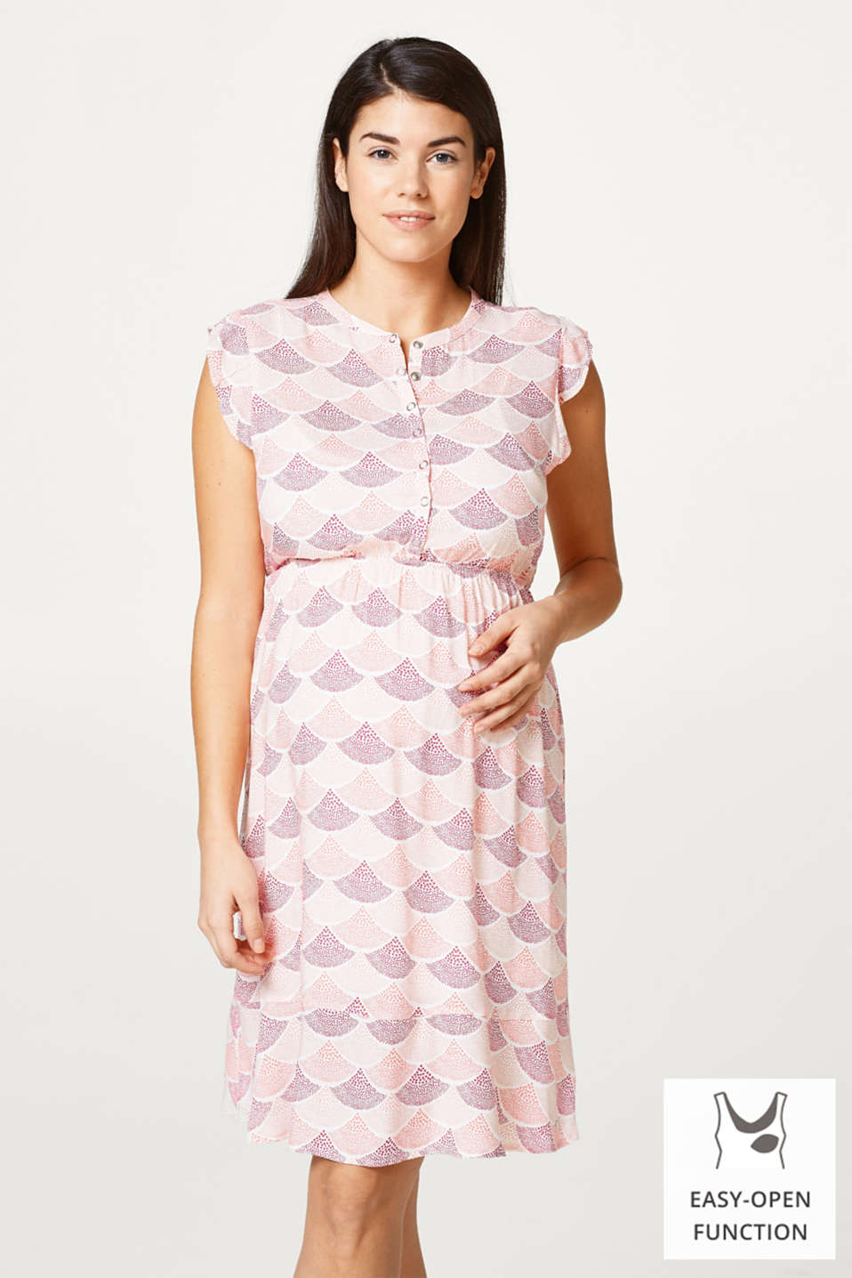 Esprit - Printed dress with integrated nursing top