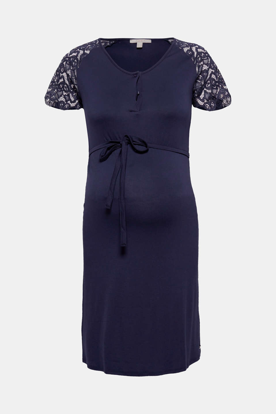 This dress in flowing jersey with high-quality lace sleeves and a nursing function is stylish, romantic and pretty!