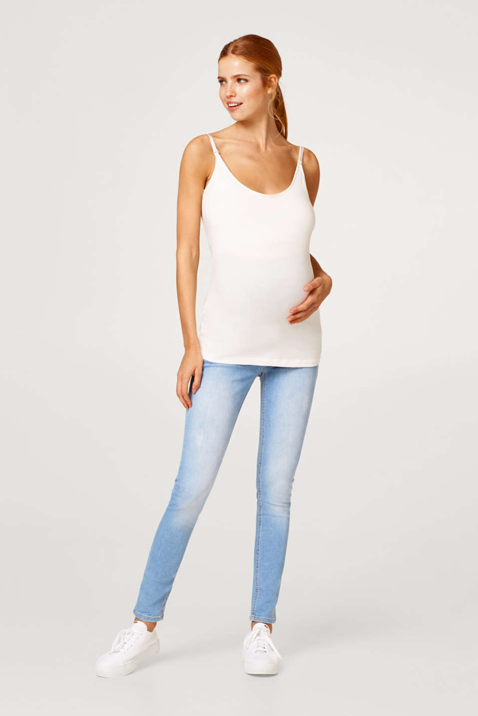Esprit - Stretch jeans with an over-bump waistband