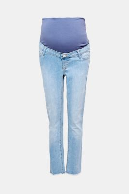 Stretch jeans with a vintage finish and over-bump waistband, LCMEDIUM WASH, detail