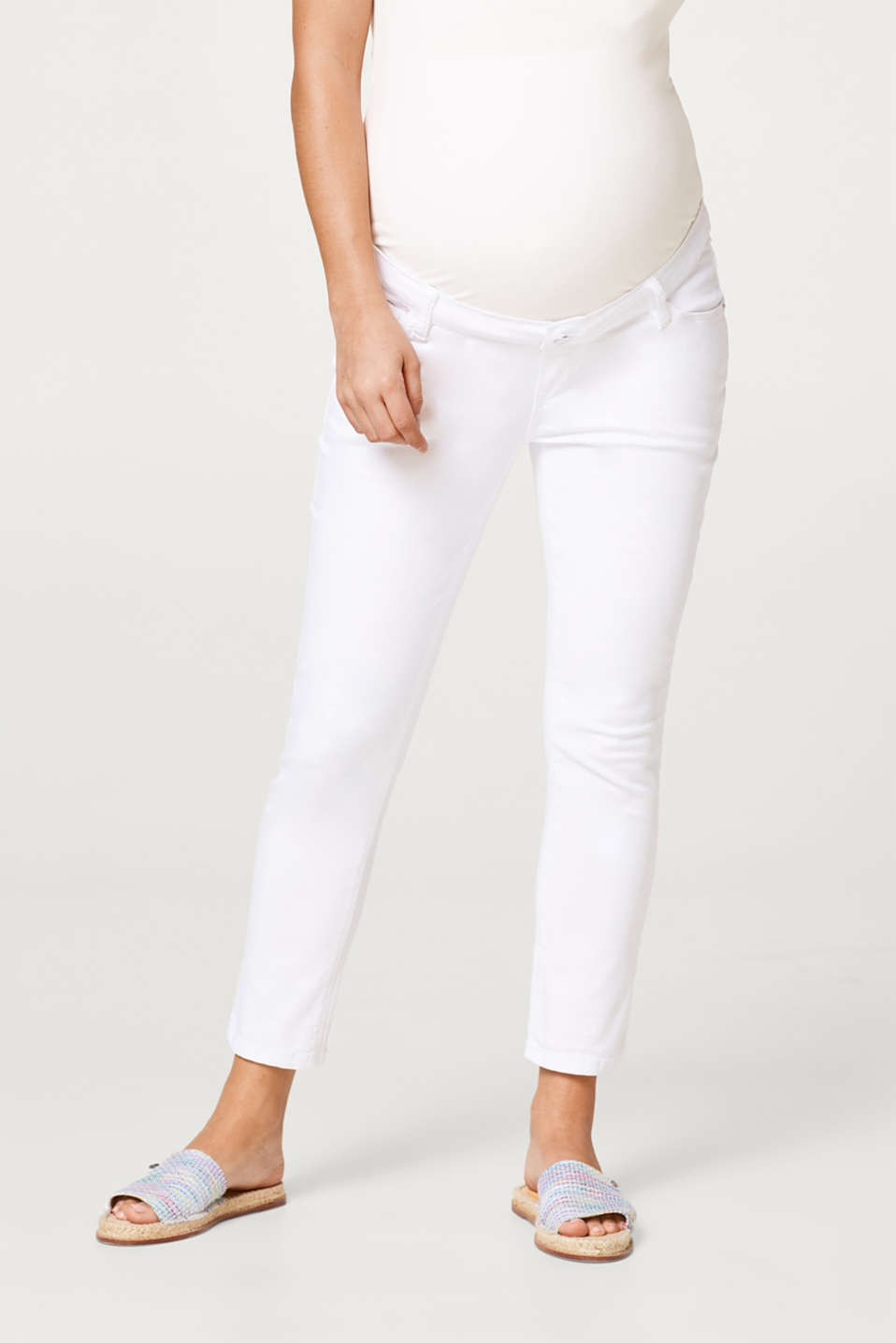 Esprit - 7/8 trousers with an over-bump waistband