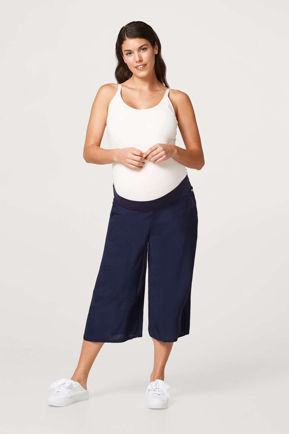 Esprit - Culottes with an over-bump waistband