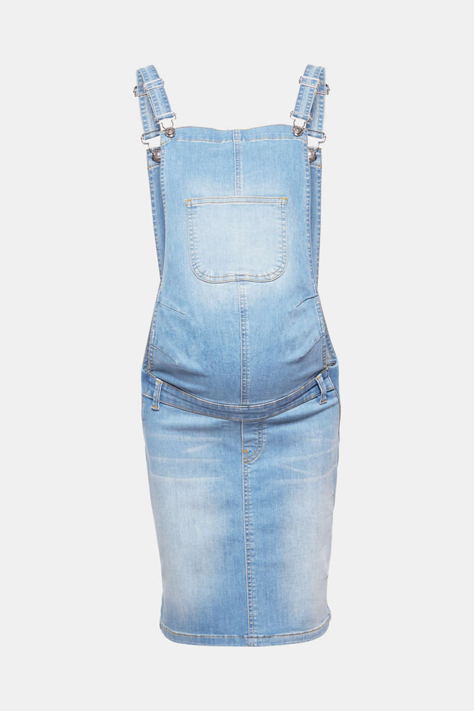 Esprit - Maternity dungaree dress + stretch waist