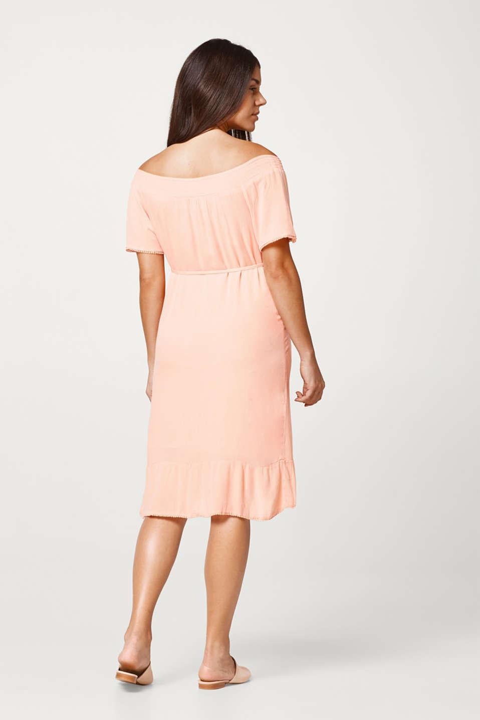 Flowing crinkle dress with dainty borders, LCROSE BRICK, detail image number 3