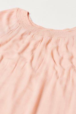 Flowing crinkle dress with dainty borders, LCROSE BRICK, detail