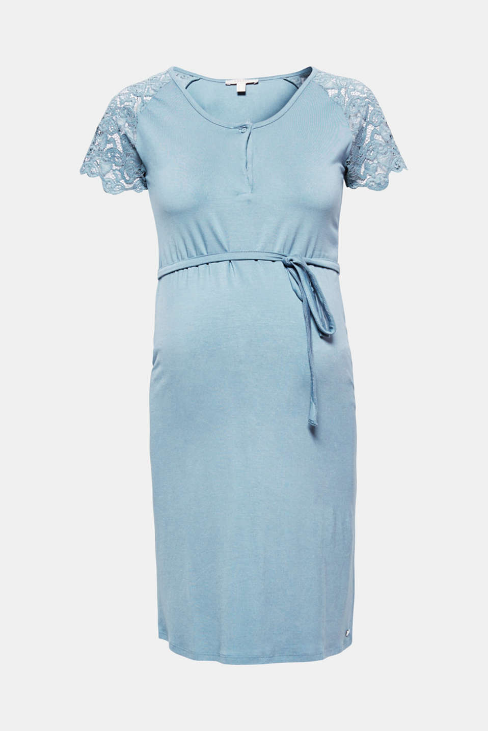 The fine lace and soft jersey give this maternity dress a particularly pretty, feminine twist.