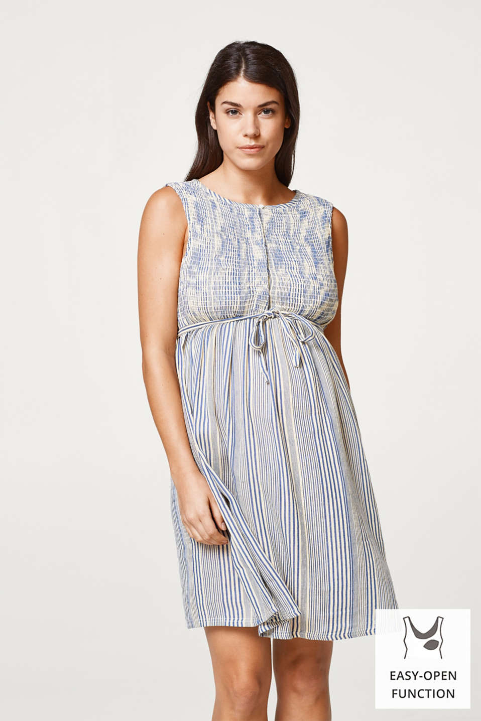 Esprit - Airy, linen blend nursing dress
