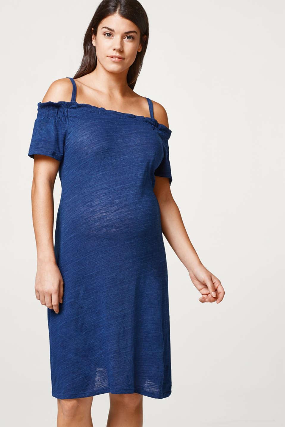 Slub jersey nursing dress, LCAZURE BLUE, detail image number 0