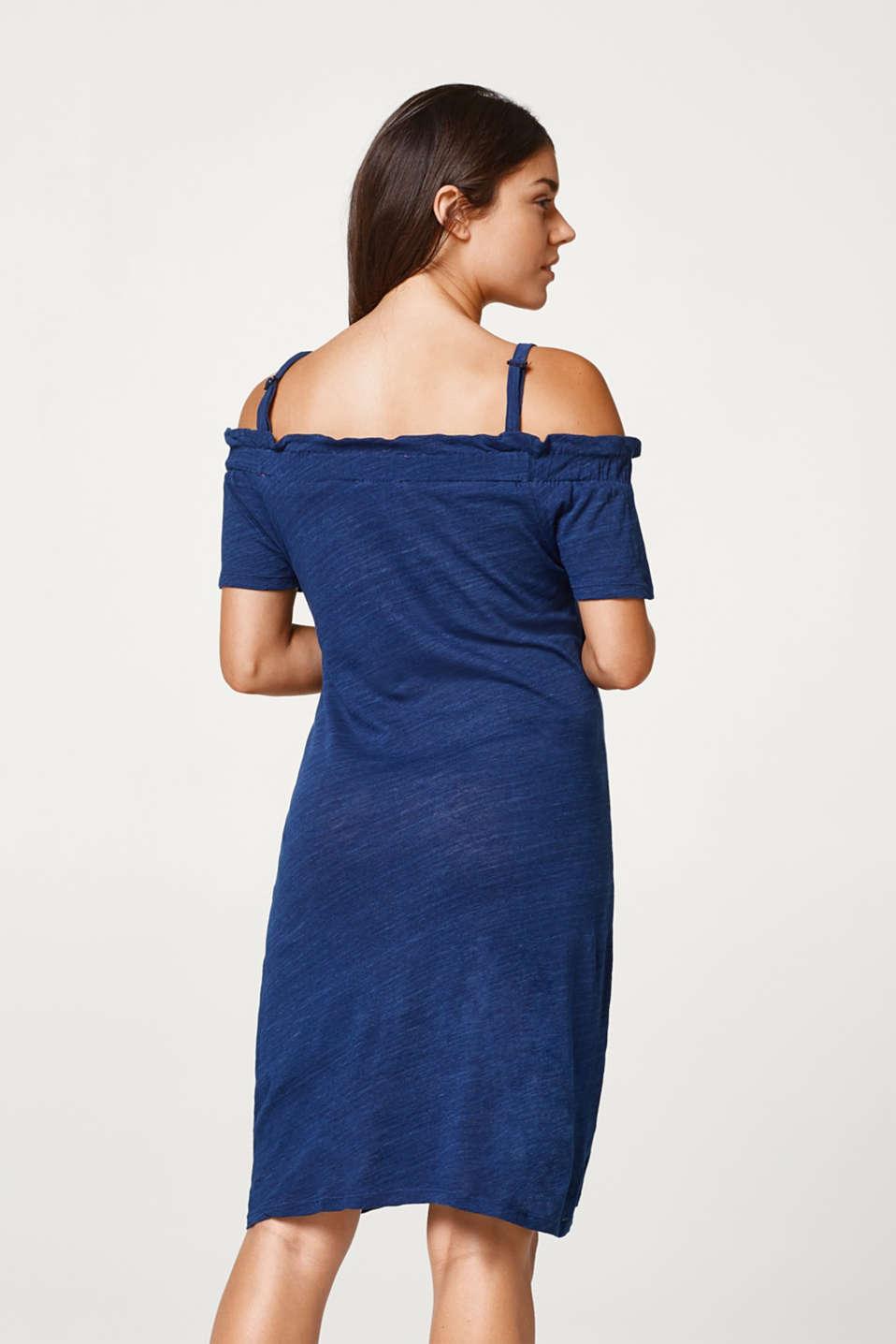 Slub jersey nursing dress, LCAZURE BLUE, detail image number 2