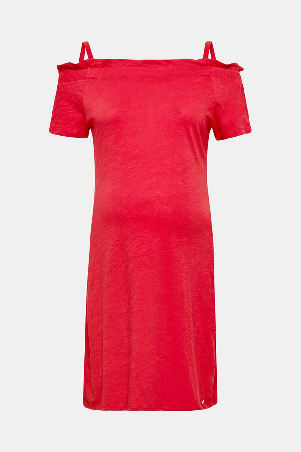 Esprit - Slub-Jersey-Kleid mit Still-Option