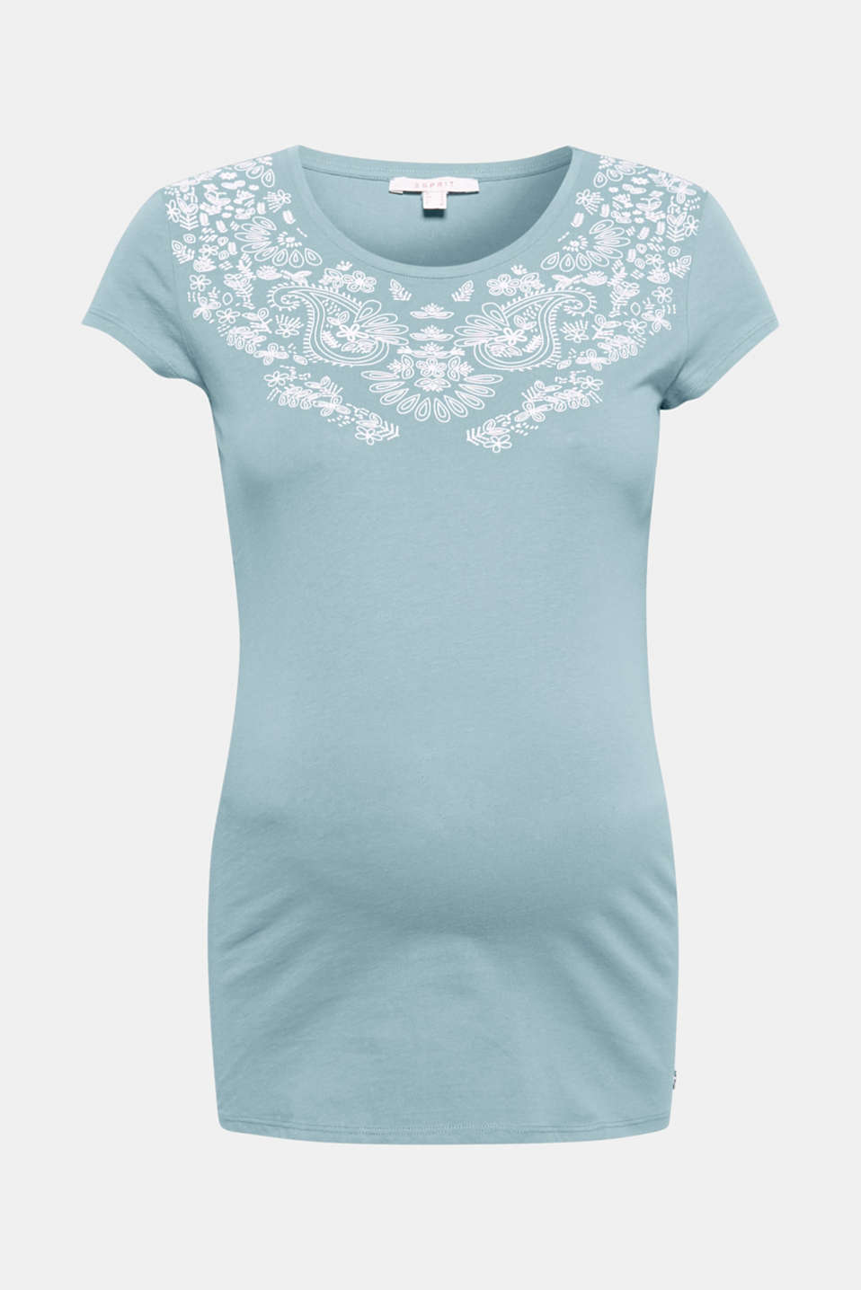 The slightly rubberised paisley print gives this lightweight cotton top its fashionable, playful note!