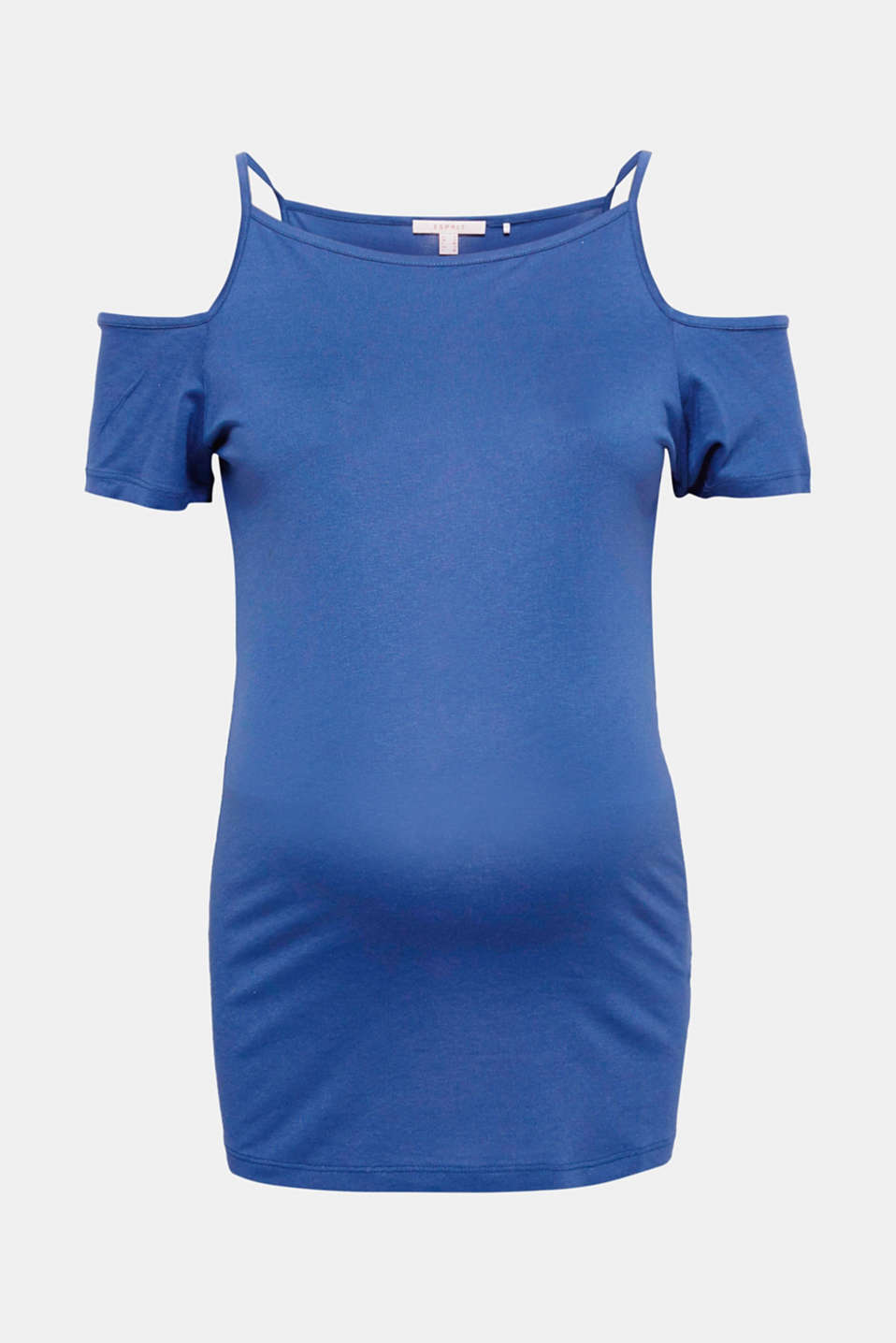 Cold-shoulder top in comfy jersey, LCAZURE BLUE, detail image number 7
