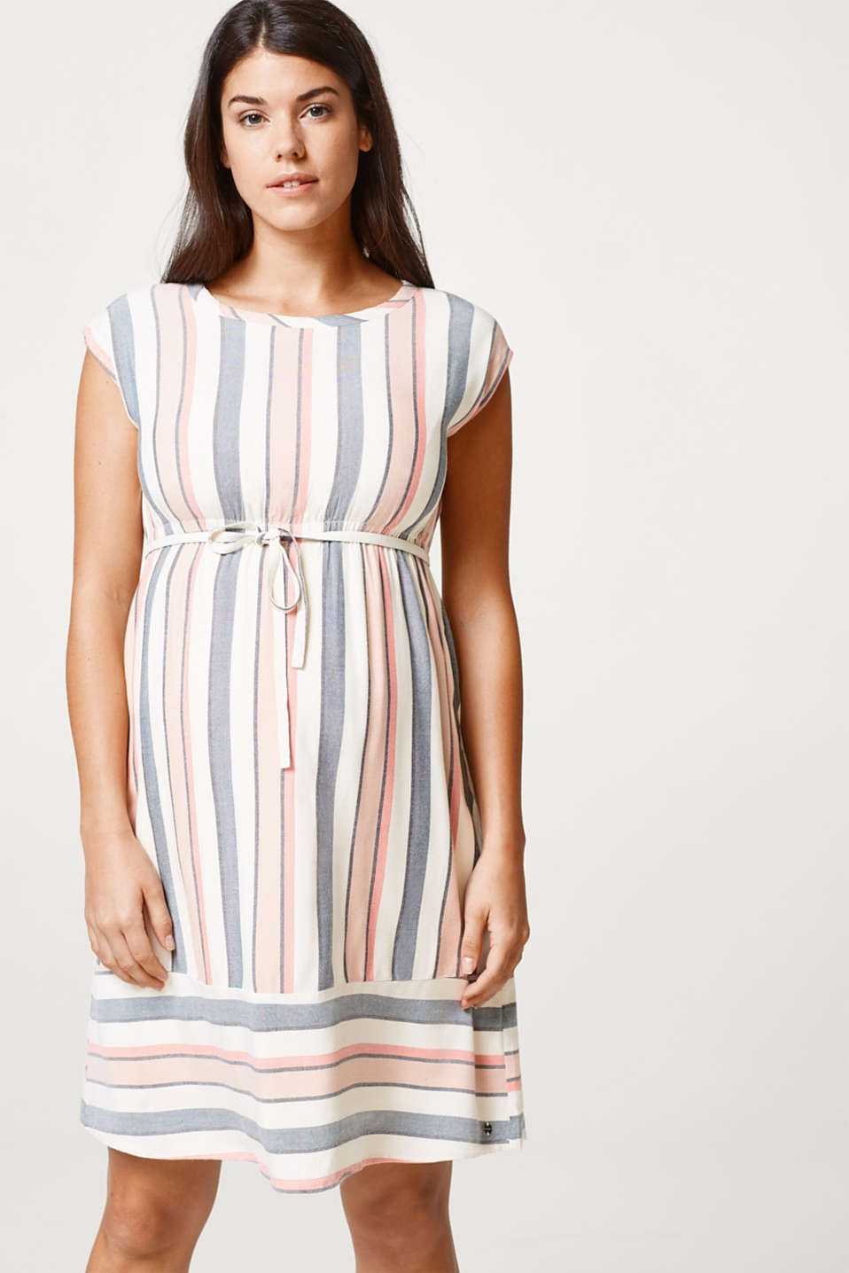 Esprit - Striped summer dress + cotton lining